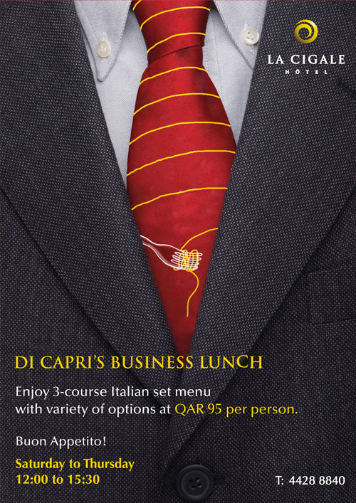La Cigale Hotel - Business Lunch (Starting After Ramadan) @ Di Capri