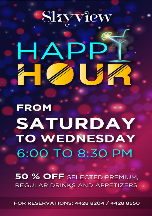 La Cigale Hotel - Happy Hour @ Sky View (Closed during Ramadan Month)