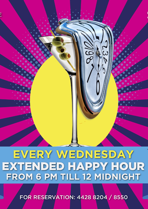 La Cigale Hotel - Extended Happy Hour @ Sky View (Outlet is closed during Ramadan)