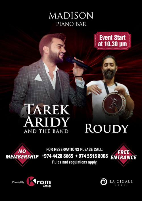 La Cigale Hotel - Daily Arabic Entertainment @ Madison Piano Bar (Outlet is closed during Ramadan)