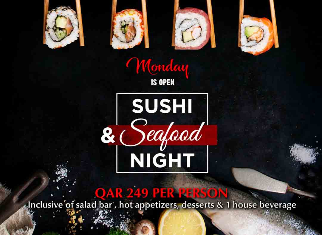 Open Sushi and Seafood Night