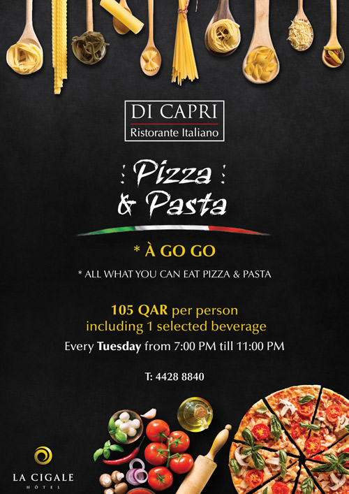 La Cigale Hotel - Open Pizza and Pasta Night @ Di Capri