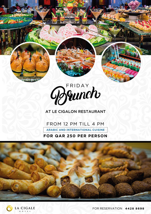 La Cigale Hotel - Friday Brunch @ Le Cigalon