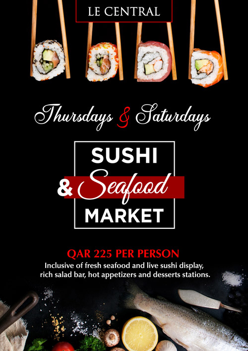 La Cigale Hotel - Open Seafood and Sushi Market @ Le Central