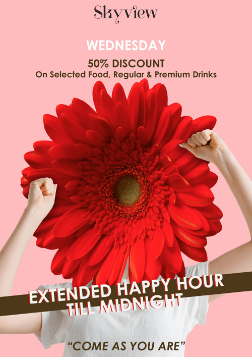 La Cigale Hotel - Extended Happy Hour till 12 midnight every Wednesday