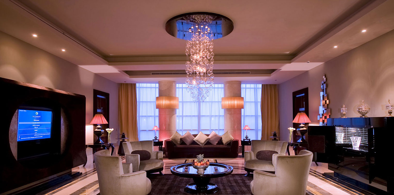 Royal Suite Living Room - La Cigale Hotel