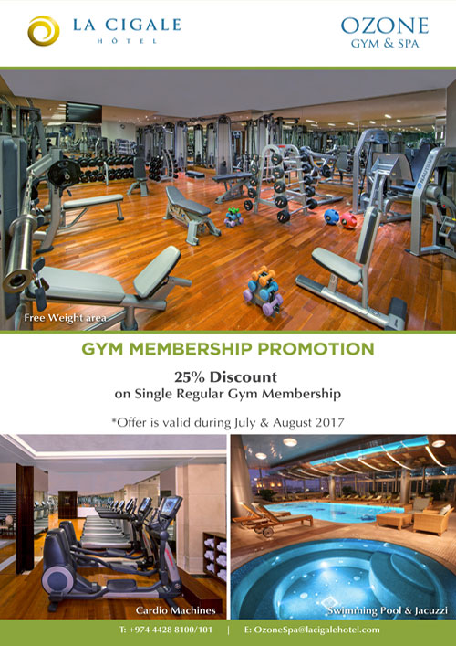 La Cigale Hotel - Gym Membership Promotion