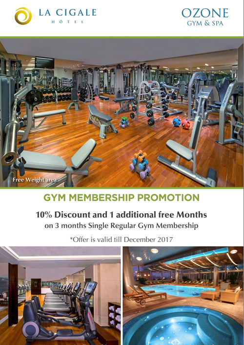 La Cigale Hotel - Gym Offer for 3 Months Membership
