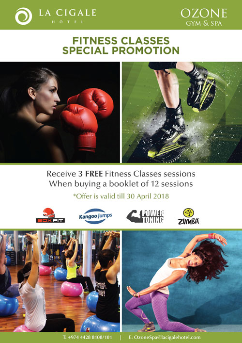 La Cigale Hotel - Fitness Classes Promotion