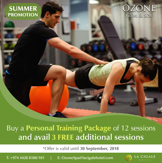 La Cigale Hotel - Summer Offer on Fitness Classes