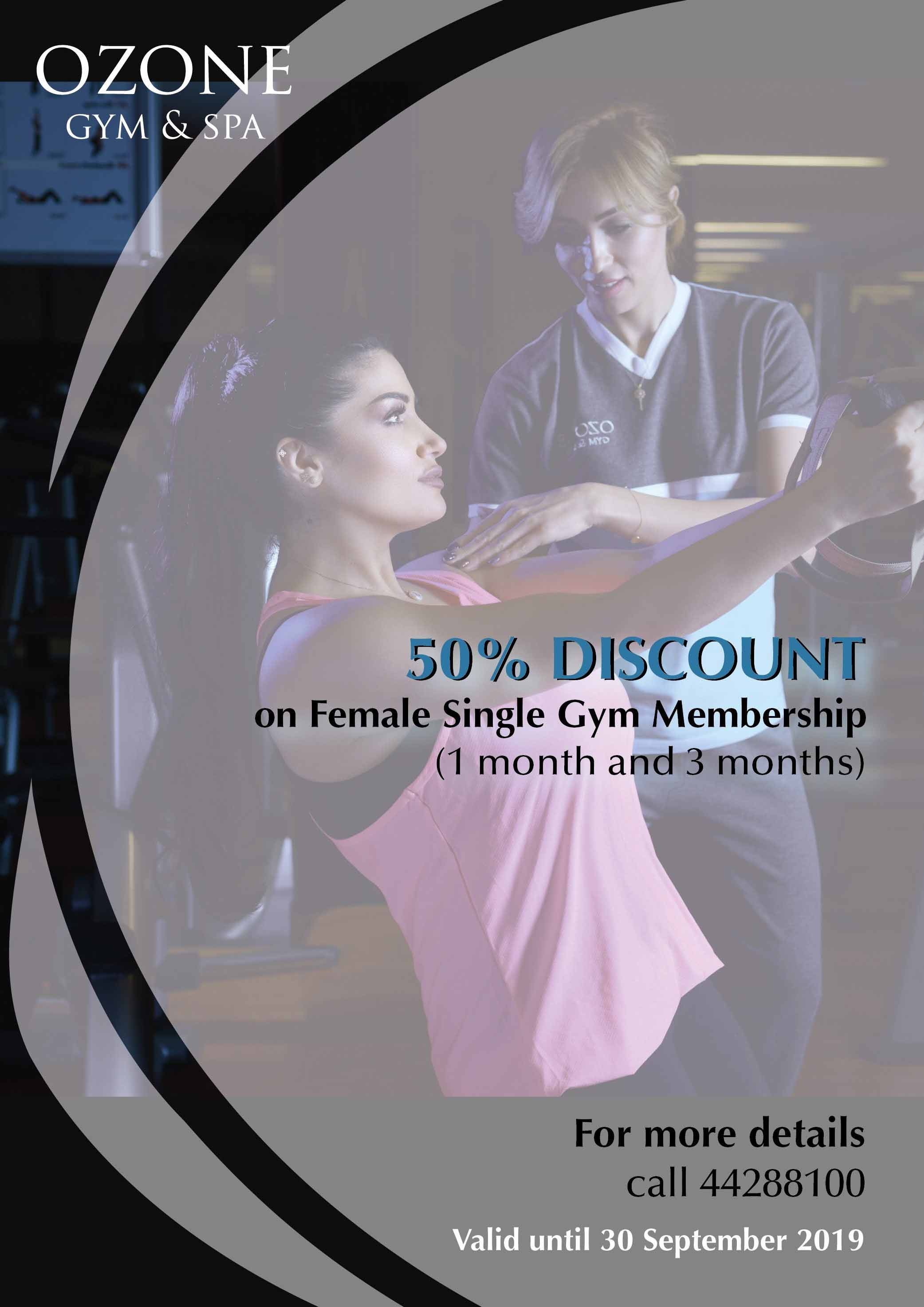 La Cigale Hotel - 50% Discount on Female Gym Membership
