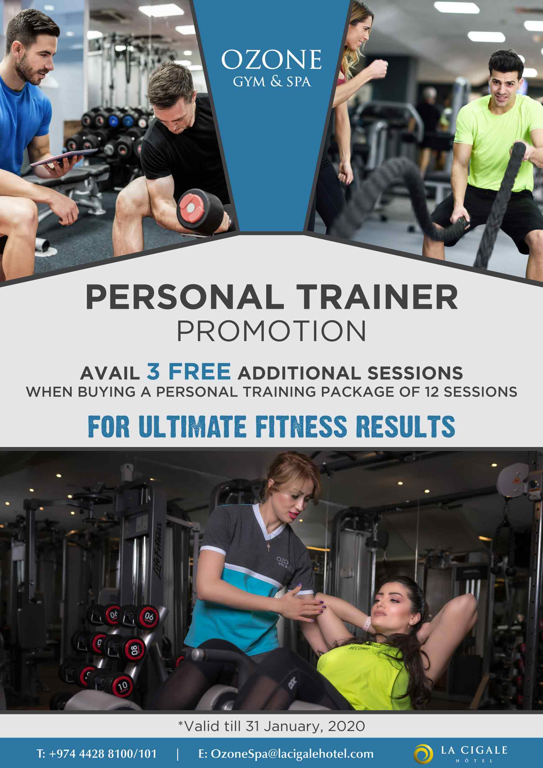 La Cigale Hotel - Personal Training Offer - 3 FREE Accesses