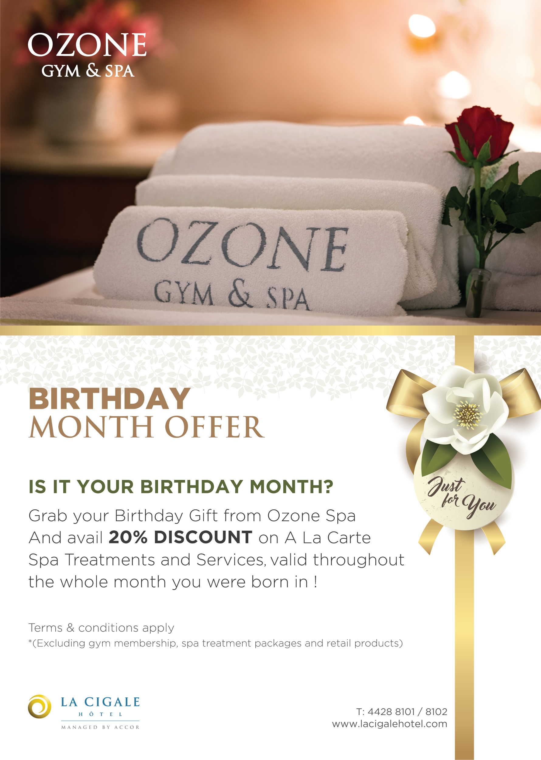 La Cigale Hotel - Birthday Month Offer - 20% Discount
